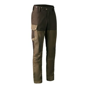 Marseille Leather Mix Trousers Walnut