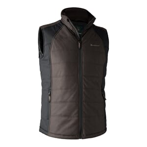 Moss Padded Waistcoat Brown leaf